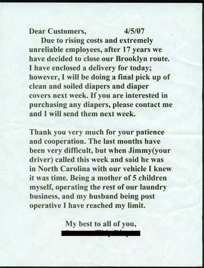 diaper letter