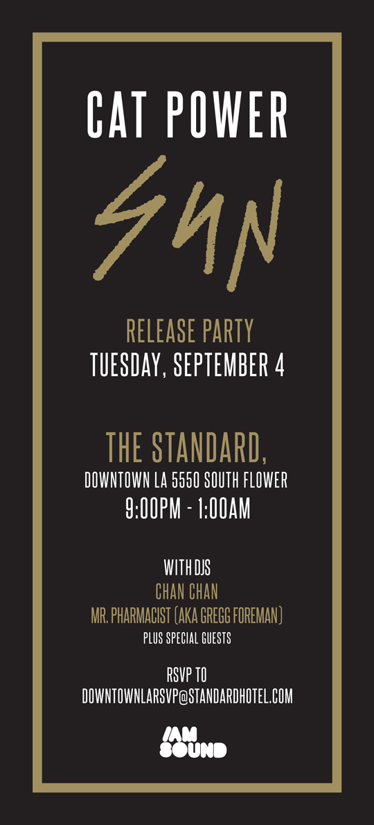 Cat Power release part invite