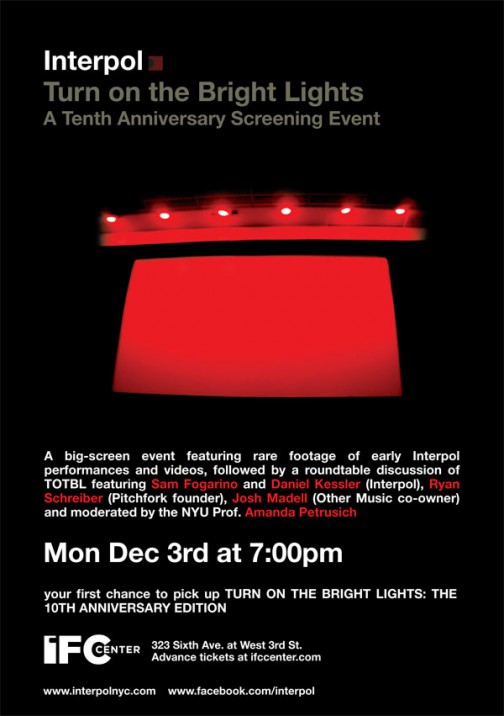 Turn On The Bright Lights IFC Screening and Round Table Discussion