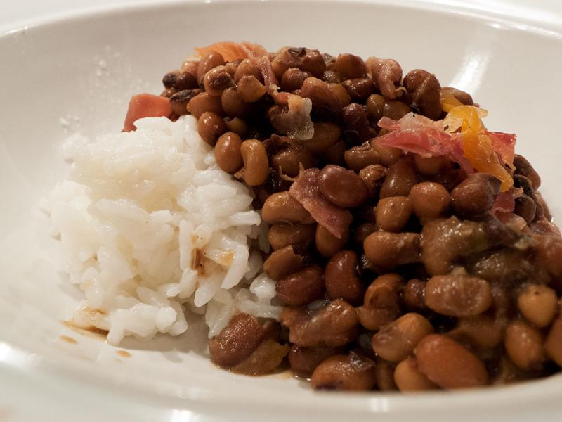 Sea Island red peas and rice