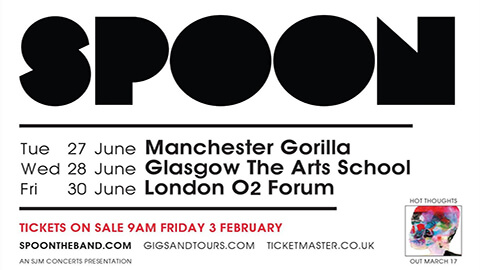 Spoon Announce June UK shows