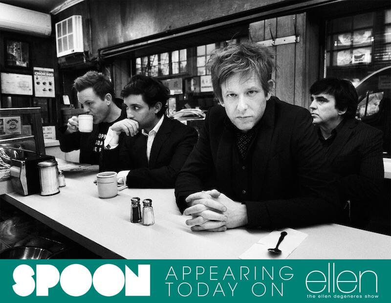 "Today :  Spoon On ""The Ellen DeGeneres Show"""