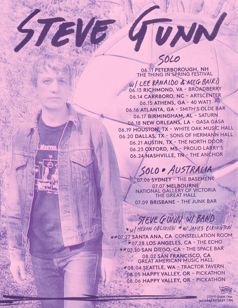 Steve Gunn –  New U.S., Australian Dates