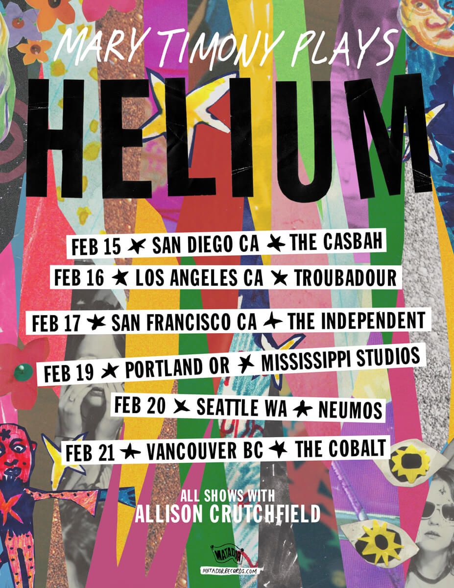 Mary Timony Plays Helium – West Coast Tour 2018