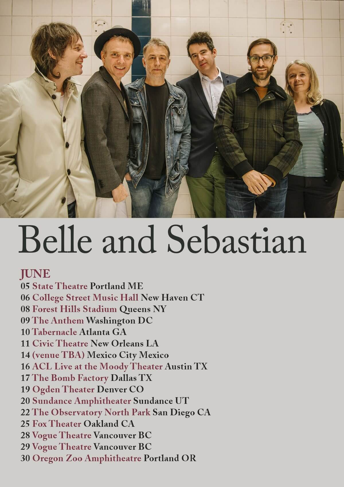 Belle and Sebastian – June North American Dates Announced
