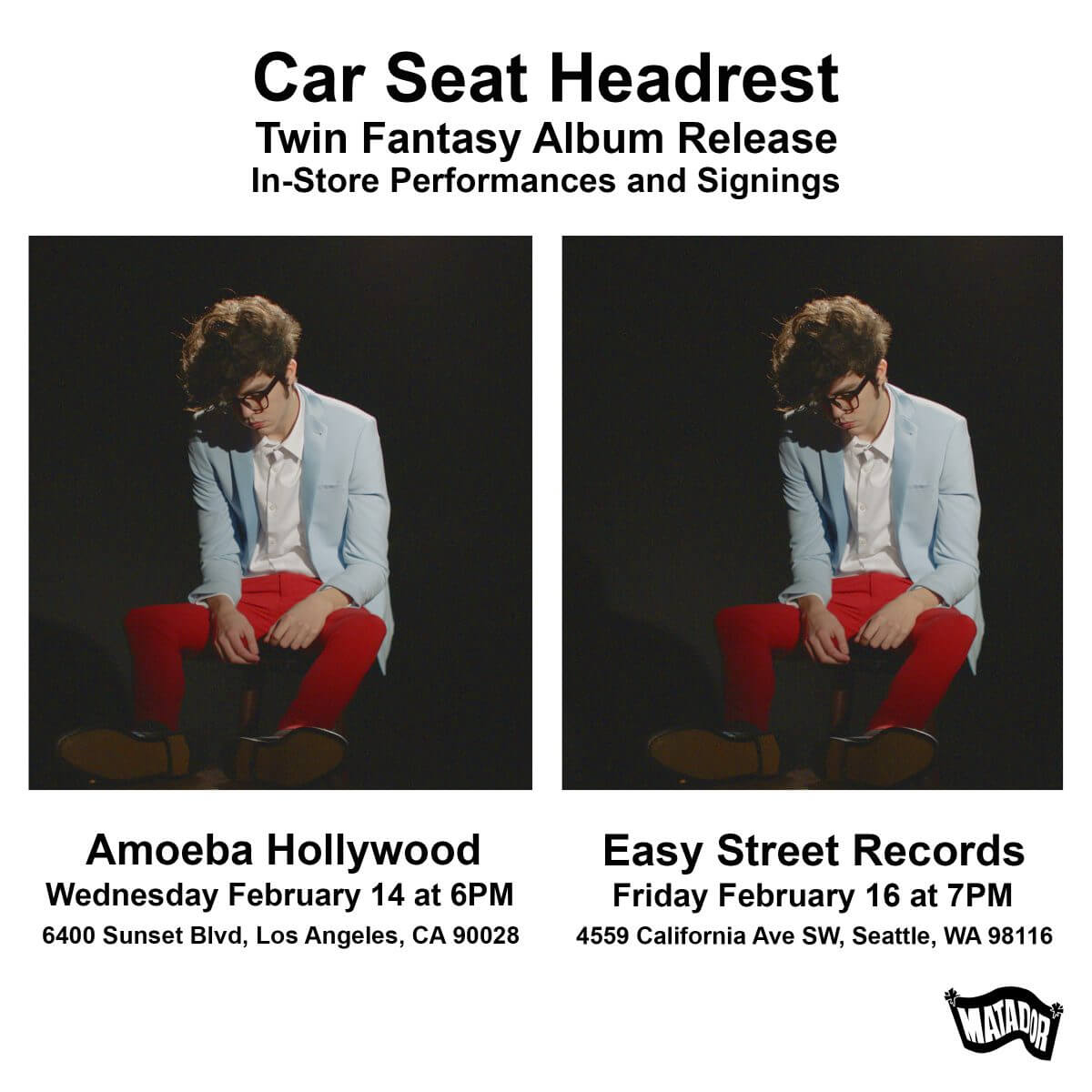 Car Seat Headrest – In-Store Performances and Signings