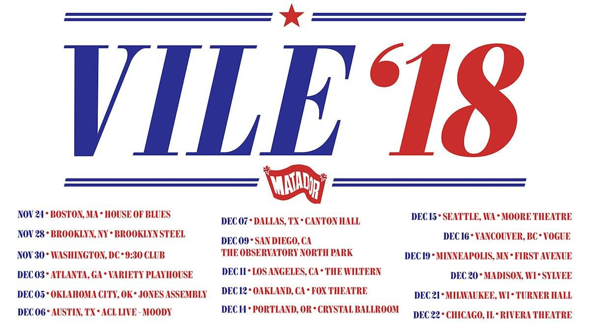 Kurt Vile & The Violators  – New North American Dates, November/December