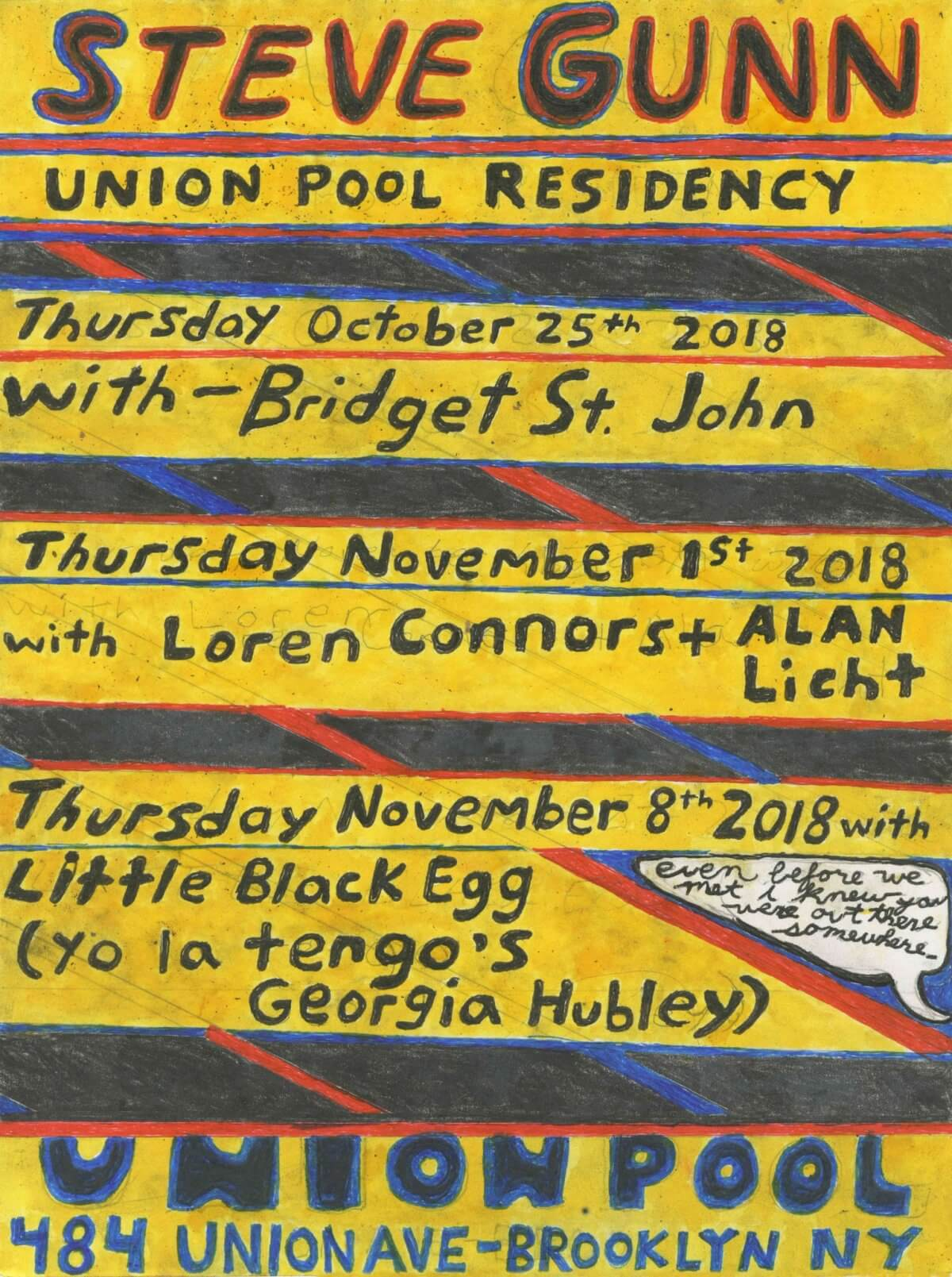 Steve Gunn – Union Pool Autumn Residency