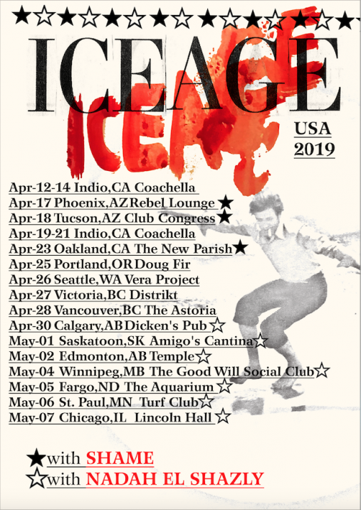 Iceage North American Dates 2019