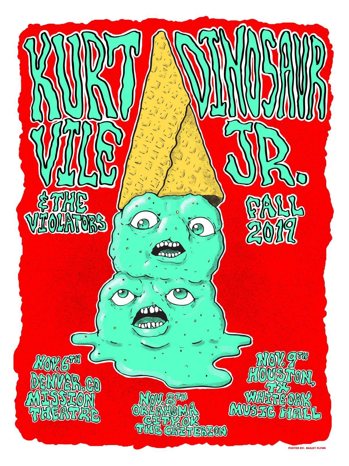 Kurt Vile & The Violators / Dinosaur Jr. Fall 2019 Tour